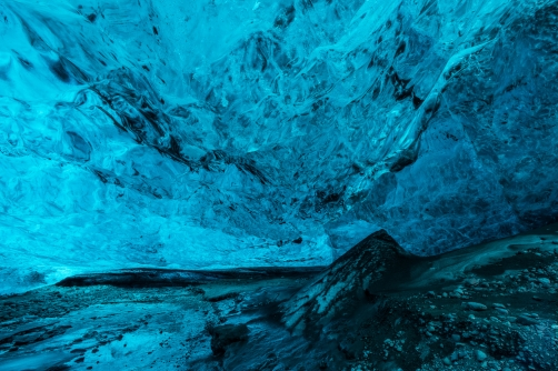 Ice Caves or Crystal Caves in Icelandic...