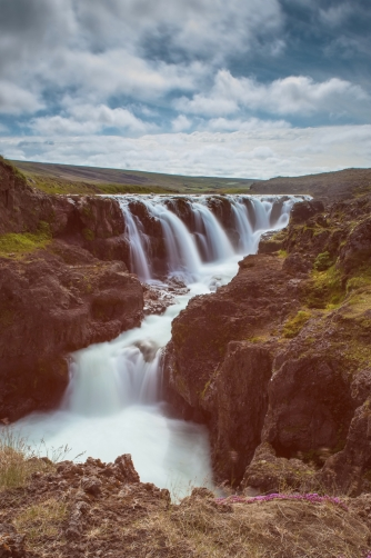 The Kolufoss Waterfall (Iceland)