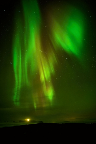 Vik beach (Iceland) The northern lights