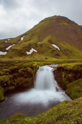 The Bláfjallakvísl Waterfall (Iceland)