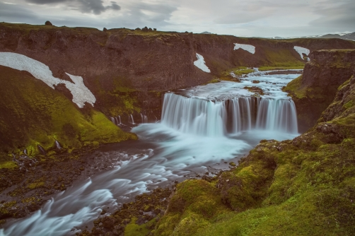 The Axlarfoss Waterfall (Iceland)