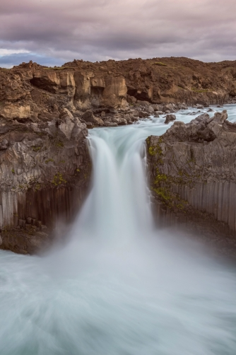 The waterfall Aldeyjarfoss (Iceland)