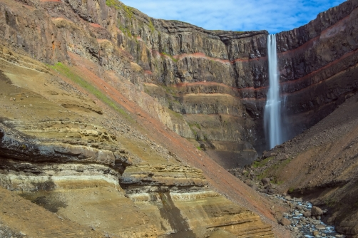 Hengifoss is the third highest waterfall in...