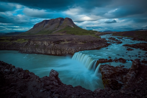 The Bjófafoss Waterfall (Iceland)