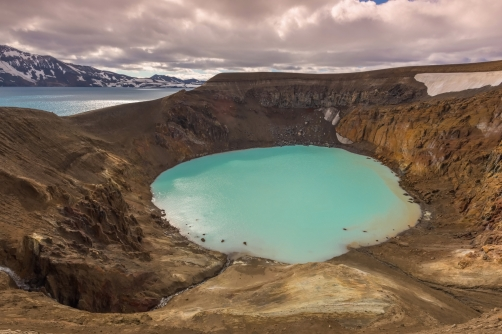 Askja is the volcanic crater in Iceland