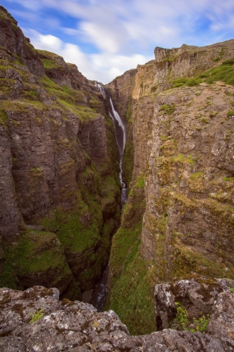 The Glymur Waterfall (Iceland)