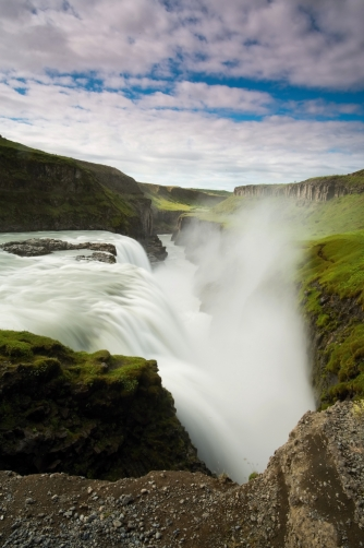 The Gullfoss Waterfall (Iceland)